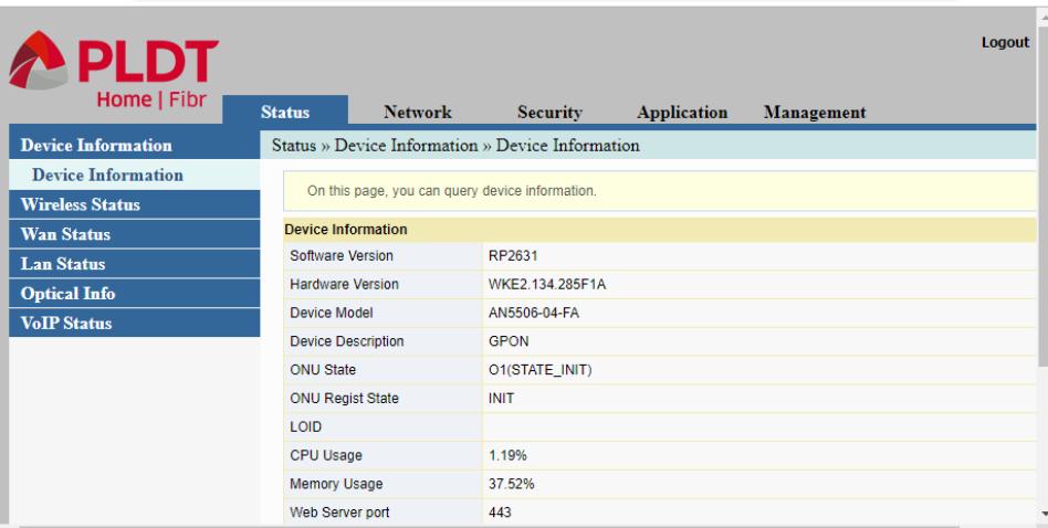 Setup or Configure PLDT WiFi Router
