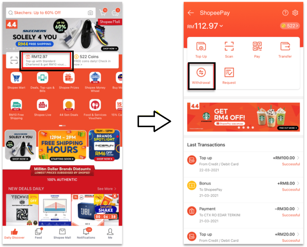 How to Withdraw Money from Shopeepay?