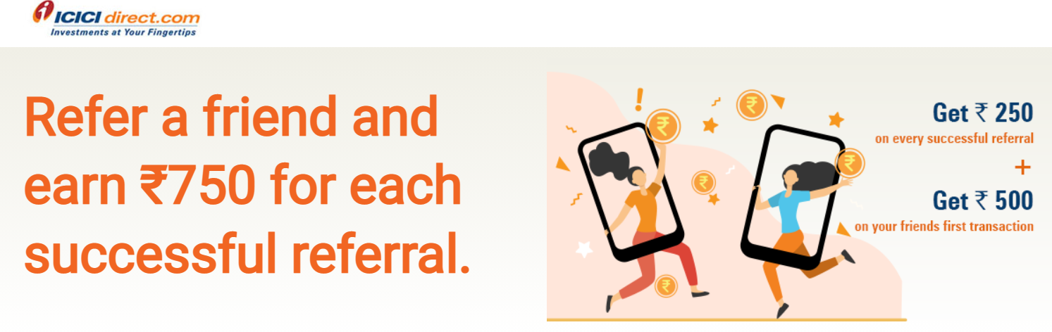How to Earn 750rs from ICICIDirect
